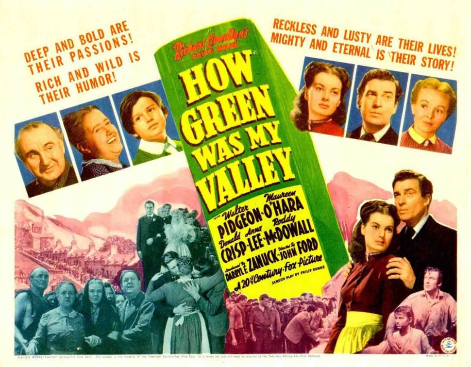 how green was my valley poster 2